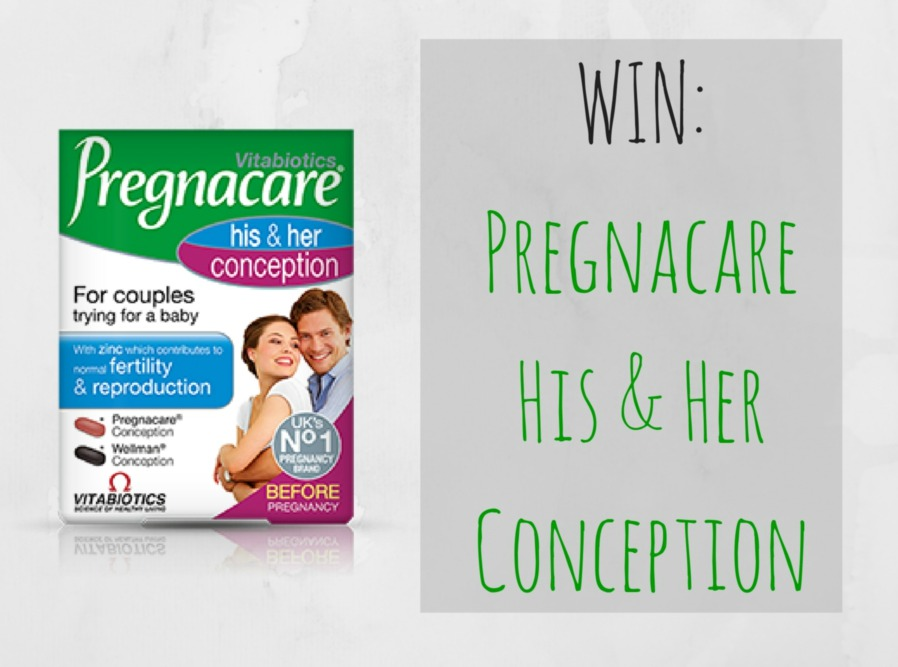 Win 3 months supply of Pregnacare His and Her Conception