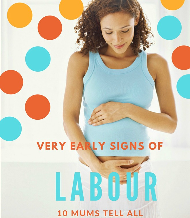 Very early signs that you're in labour - ten mums tell us theirs on www.talkmum.com