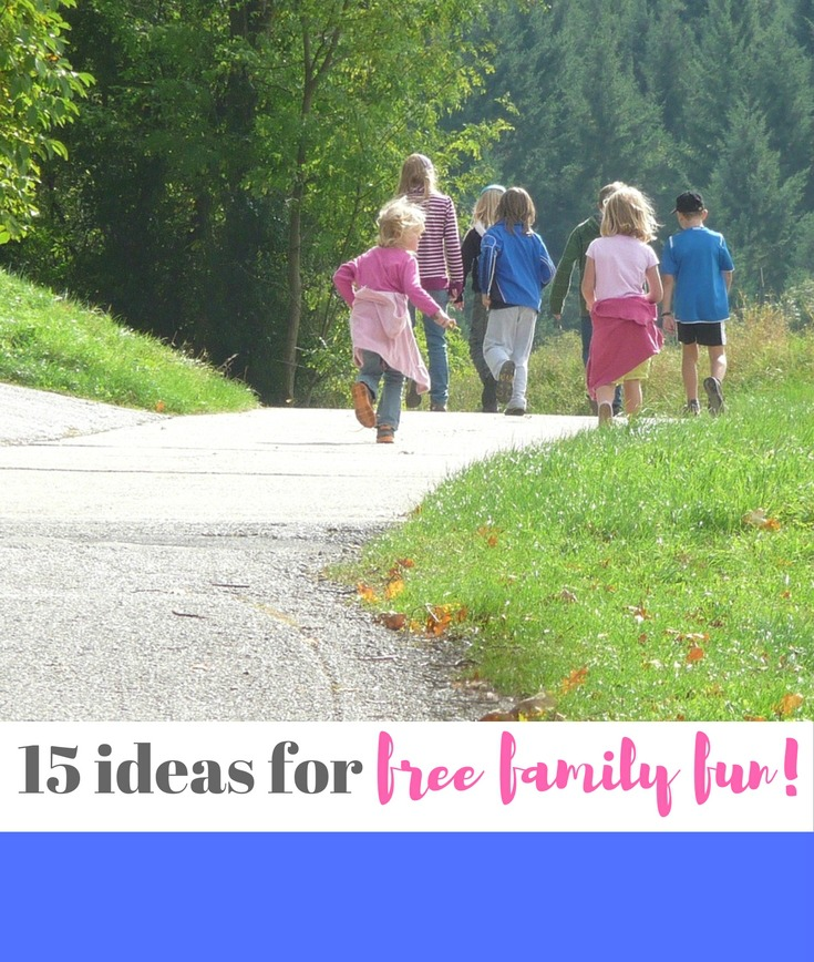15 ideas for holiday fun - completely free! Great list of ideas for kids that cost nothing. Make sure you read if you're stuck for inspiration