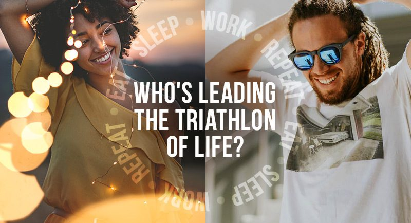 Eat, sleep, work, repeat: Who's leading the triathlon of life?
