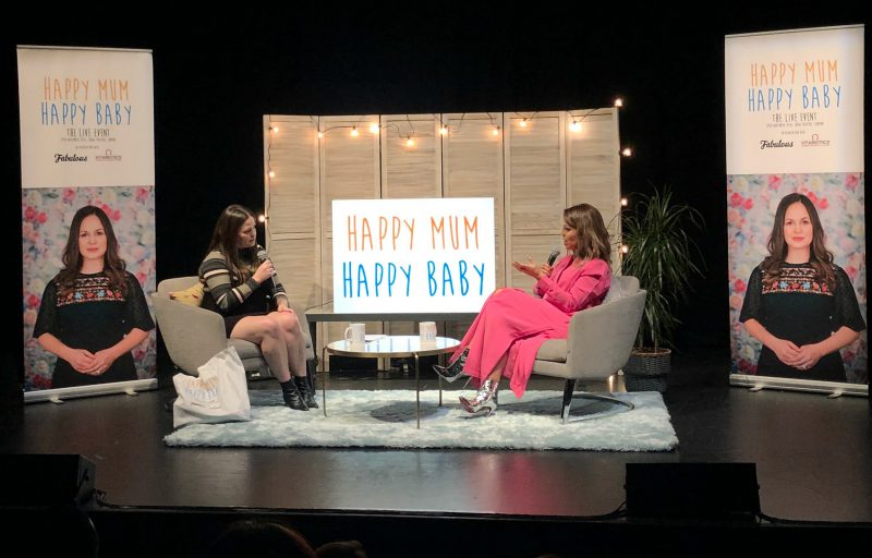 Happy Mum, Happy Baby podcast recording with Giovanna Fletcher and Katie Piper