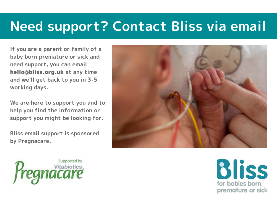 Bliss and pregnacare charity partners