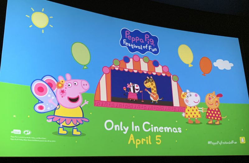 We review the brand new Peppa Pig cinema experience, Peppa Pig: Festival of Fun